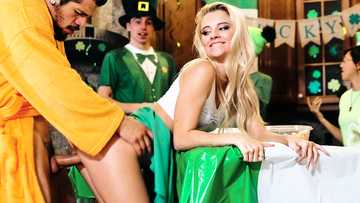 St. Patrick's day celebration turns into a hardcore fucking with Riley Star