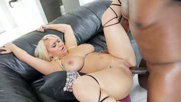 Pussy fucking with black cock in interracial hardcore scene by Nina Kayy