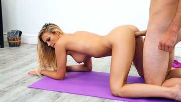 Sweet thing Addie Andrews loves pussy-drilling more than boring yoga session