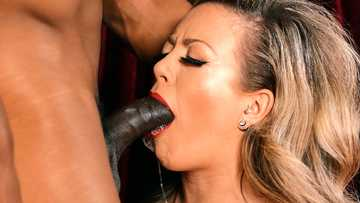Amazing wife Carmen Valentina almost swallows hubby's BBC before fucking