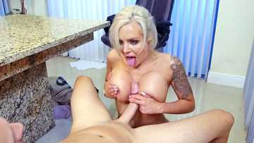 Work fantasies got hot for busty boss Nina Elle so she is titty fucking now