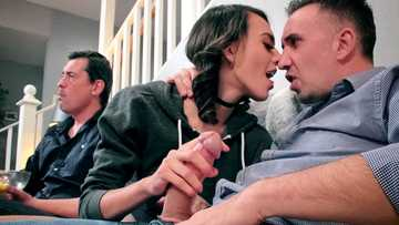 Janice Griffith is smitten with the huge cleaver of Mr. Keiran Lee and sucks it whenever she can